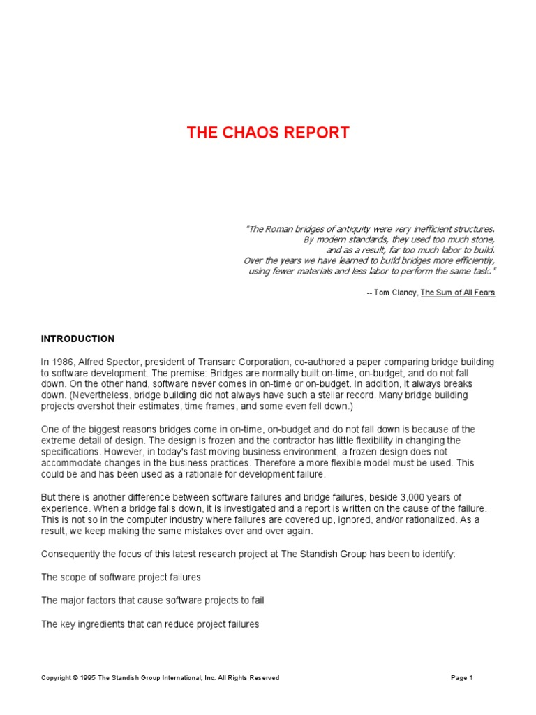 chaos report 1995