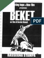 """Press Release """"BEKET"""""""