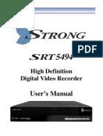 SRT 5494 User Manual 22 October