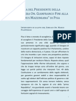 Intervento 60°anniversario Domus Mazziniana