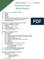 Programme Cours Reseaux Oct09