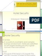 Hotel Security - Innkeeper's Responsibility