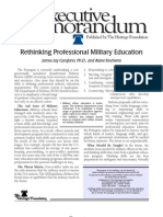 Carafano Rethinking Professional Military Education
