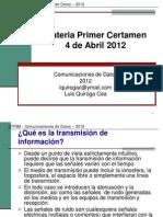 Comunicaciones de Datos 2012 Materia C1
