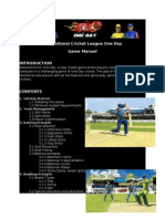 Manual-International Cricket League One Day