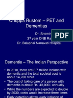 Chuppa Rustom – PET and Dementias