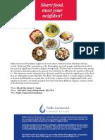 Interfaith Food Event
