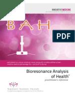 Bio Resonance Analysis of Health Instruments