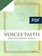 NIV Voices of Faith Devotional Bible