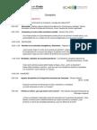 Cronograma Temático Congreso de Economía 2012