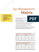 3 Energy Management Matrix