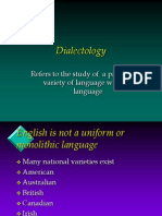 LING-23 Dialectology Terminology (Rev.4/23/2012)