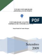 Contabilidade analítica em empresas de Const