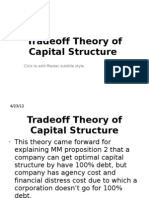 Tradeoff Theory of Capital Structure