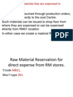 Requisition for Materials That Are Expensed to Cost Center