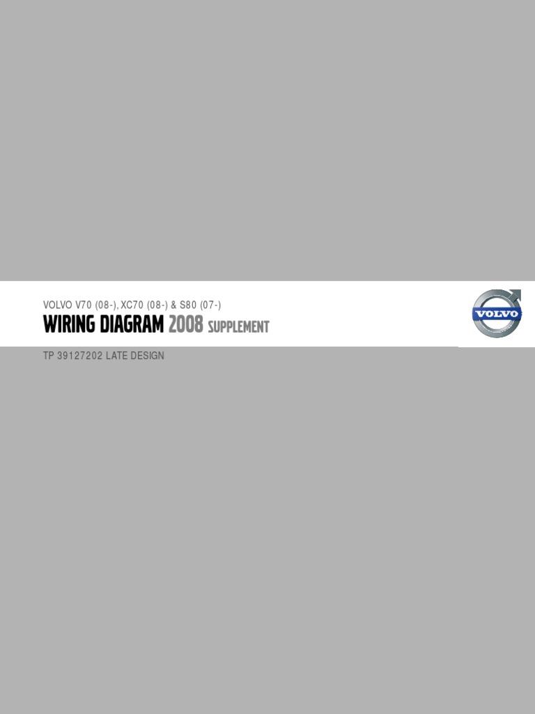 2008 Volvo S80 Wiring Diagram Great Installation Of Ad41 Tp39127202 V70 Xc70 Supplement Airbag Rh Scribd Com Parts