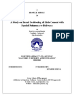 30272259 Project on Brand Positioning of Birla Cement AMIT GHAWARI Vision School of Mgmt Chittorgarh