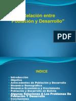 Relacion Poblacion y Desarrollo