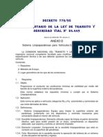 Anexo D Sistema de Limpiaparabrisas Para Vehiculos Categoria M1 y N1