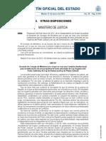 Comision Reforma LOPJ y Planta Judicial, 2012
