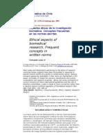Revista Medica de Chile Aspectos Bioeticos de La Investigacion