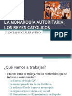 Tema 8 La Monarqua Autoritaria Los Reyes Catlicos