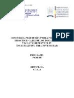 Fizica Programa Titularizare 2010 P