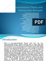 Non-Representational Theory and Ethnographic Research