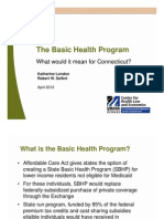 The Basic Health Program What would it mean for Connecticut?