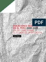 Violaciones Sexuales en el Perú 2000-2009 Jaris-Mujica