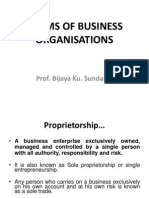 Forms of Business Organ is at Ions