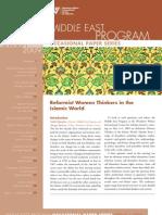 Reformist Women Thinkers in the Islamic World