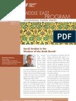 Saudi Arabia in the Shadow of the Arab Revolt