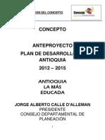 Concepto Plan Desarrollo Antioquia 2012-2015