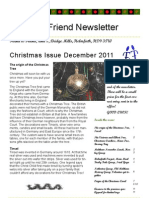 Friend to Friend Newsletter December 2011