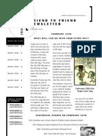 Friend to Friend Newsletter February 2012