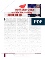 Economic Survey 2012 India is Not Shining May 2012 Www.upscportal.com
