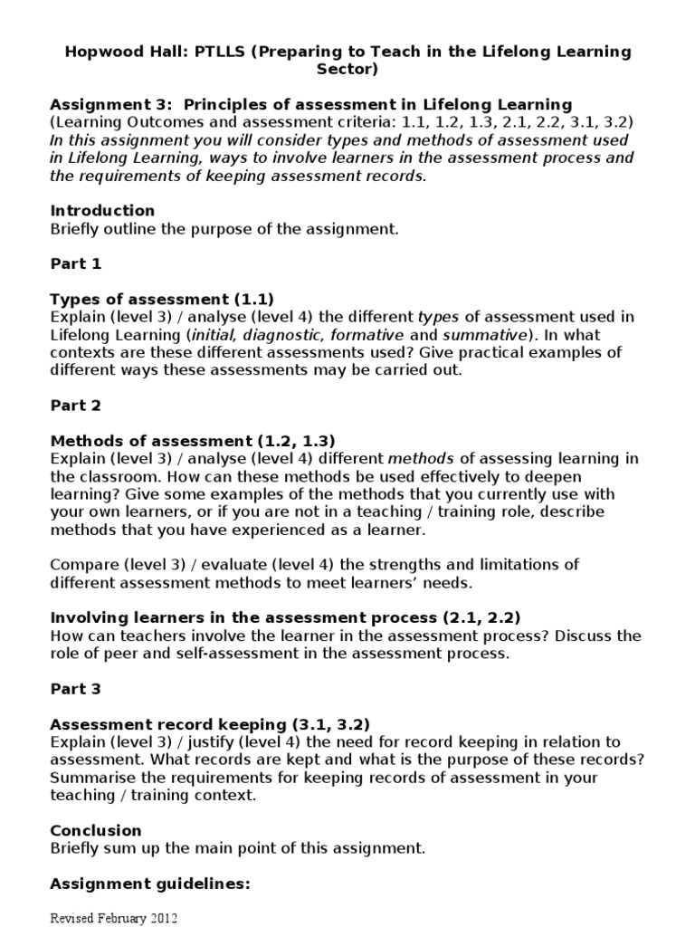 evaluate how to involve learners in the assessment process essay Learning takes place in students' heads where it is invisible to others this means that learning must be assessed through performance: what students can do with their learning assessing students' performance can involve assessments that are formal or informal, high- or low-stakes, anonymous or public, individual or collective.