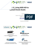 R12 Using WEB ADI to Upload Oracle Assets