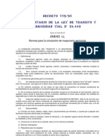 Anexo LL Normas Para La Circulación de Maquinaria Agricola