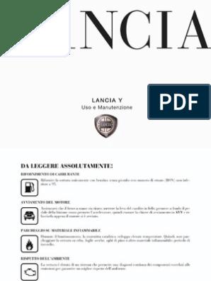 Libretto Duso E Manutenzione Lancia Y