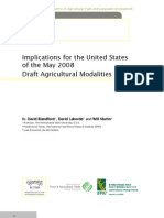 Implications  for the United States  of the May 2008  Draft Agricultural Modalities