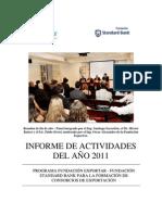 Informe 2011 Fundación Standard Bank - Fundación ExportAR