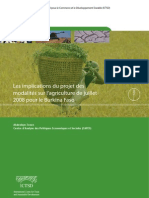 Les implications du projet des modalités sur l'agriculture de juillet 2008 pour le Burkina Faso