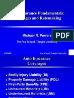 Auto Insurance Fundamentals
