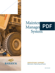 Barrick Maintenance Management System - English