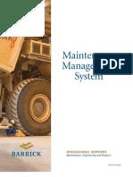 Barrick Maintenance Management System - English