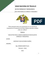 Informe de Tesis II Para Optar Por El Grado Academico de Bachiller en Farmacia y Bioquimico