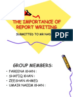 The Importance of Report Writing Shafiq