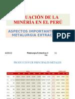 SITUACIÓN DE LA MINERÍA EN EL PERÚ